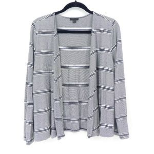 J Jill Wherever Collection Striped Cardigan Topper